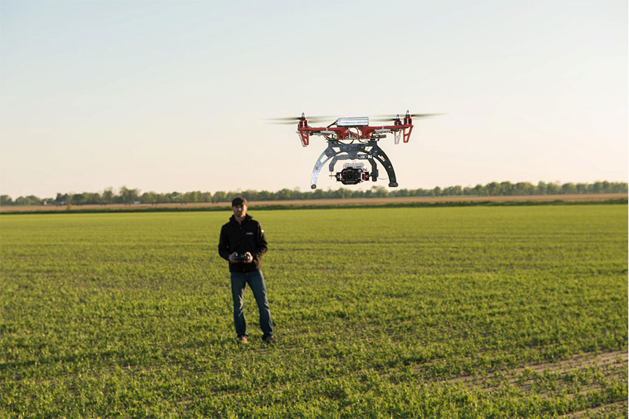 Papel de los drones en la agricultura