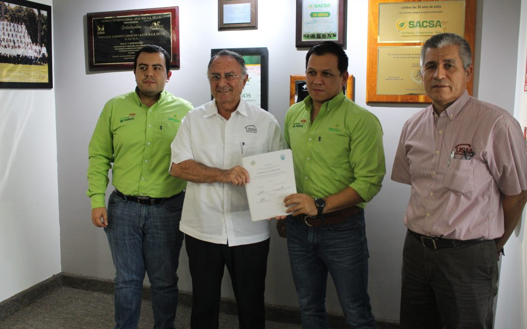 Firman convenio de colaboración, Grupo SACSA y la Universidad de San Miguel