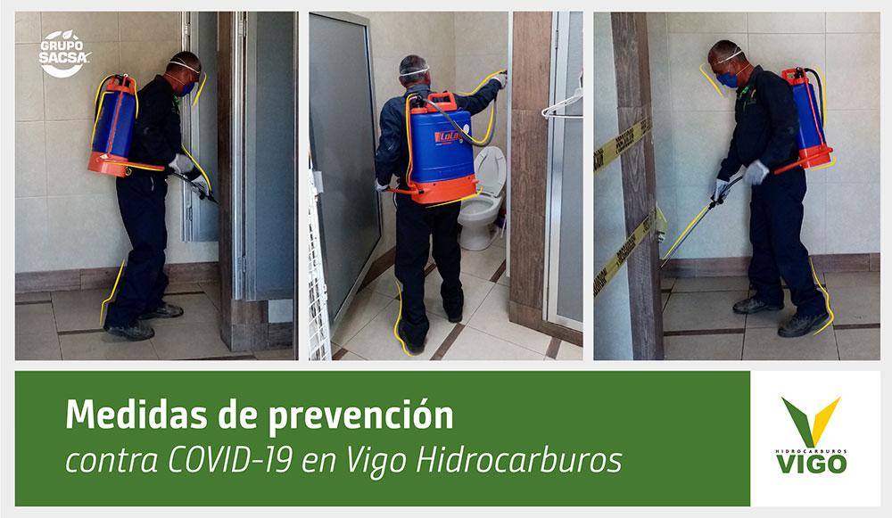 Medidas de prevención contra COVID-19 en Vigo Hidrocarburos