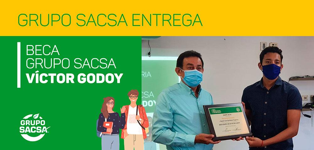 GRUPO SACSA ENTREGA BECA GRUPO SACSA VÍCTOR GODOY